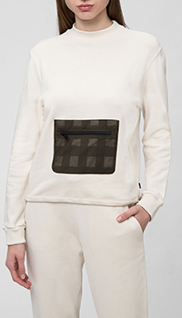 Белый свитшот Woolrich с карманом, фото