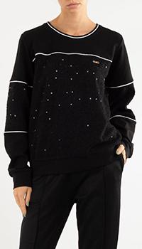 Черный свитшот Liu Jo с пайетками, фото