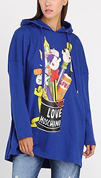 Свитшот с капюшоном Love Moschino оверсайз, фото
