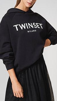 Черная толстовка Twin-Set с принтом, фото