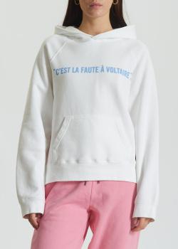 Белое худи Zadig & Voltaire с принтом на спине, фото