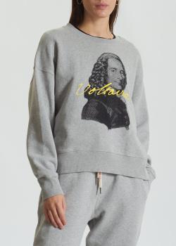 Серый свитшот Zadig & Voltaire с портретом Вольтера, фото