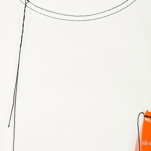 Свитшот MRZ белый свободного кроя, фото