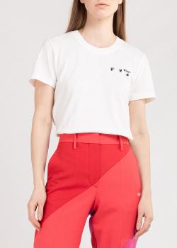 Хлопковая футболка Off-White с принтом на спине, фото