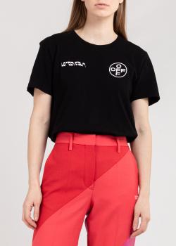 Черная футболка Off-White с картиной на спине, фото
