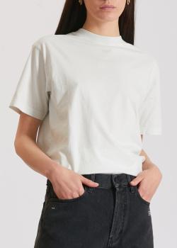 Белая футболка Off-White с принтом на спине, фото