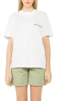 Белая футболка Etro с логотипом, фото