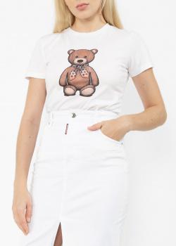 Белая футболка Etro с рисунком медведя, фото