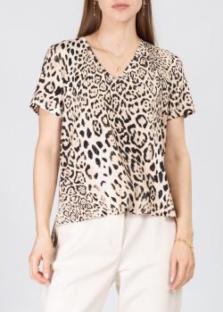 Леопардовая футболка Airfield с удлиненной спиной, фото