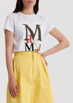 Белая футболка Max Mara Humour из хлопка, фото