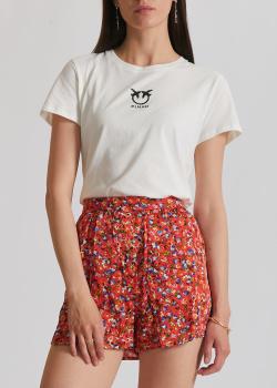 Белая футболка Pinko с логотипом, фото