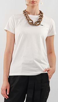 Хлопковая футболка Twin-Set My Twin белого цвета, фото