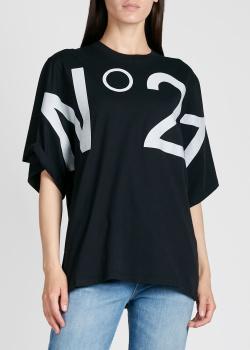Футболка-оверсайз N21 с крупным лого, фото