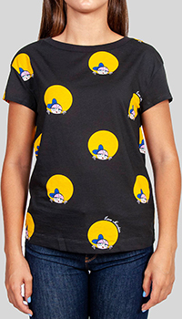 Черная футболка  Love Moschino с принтом, фото