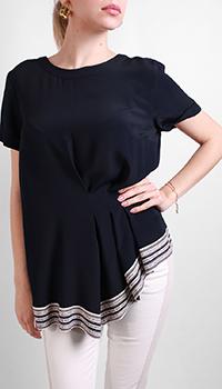 Черная футболка Riani из шелка, фото