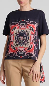 Синяя футболка Riani с декором, фото