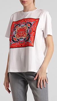 Белая футболка Riani с цветным принтом, фото