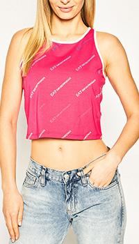 Топ Ea7 Emporio Armani розового цвета, фото