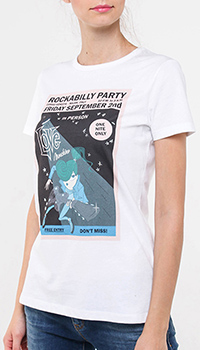 Белая футболка Love Moschino с принтом, фото