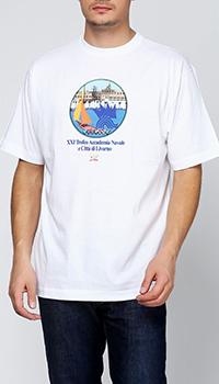 Белая футболка Paul&Shark с надписью, фото