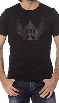 Мужская футболка John Richmond черного цвета, фото