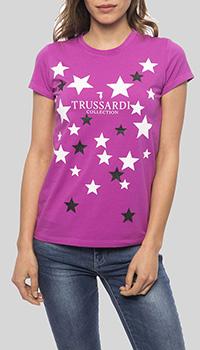 Футболка Trussardi Collection цвета фуксия, фото