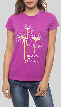 Футболка Trussardi Collection с принтом-цветы, фото