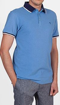 Поло Trussardi Jeans в голубом цвете, фото