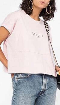 Розовая футболка Stella McCartney с принтом, фото