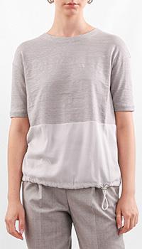 Двухцветная футболка Fabiana Filippi на затяжке, фото