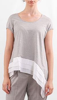 Серая футболка Fabiana Filippi из льна, фото