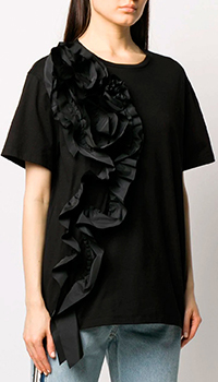 Черная футболка Alexander McQueen с декором, фото