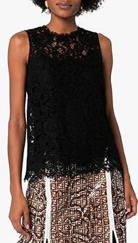 Кружевной топ Dolce&Gabbana черного цвета, фото