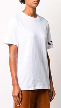 Хлопковая футболка Valentino с вышивкой из бисера, фото