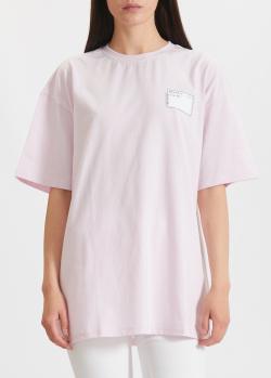 Розовая футболка Miss Sixty свободного кроя, фото