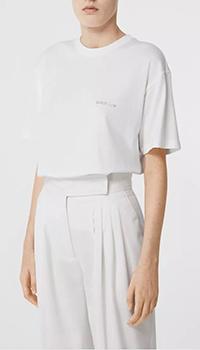 Белая футболка Burberry с декором на спине, фото