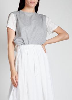 Двухцветная футболка Aspesi в тонкую полоску, фото