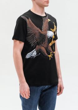 Черная футболка Billionaire с принтом орла, фото