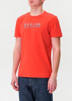 Красная футболка Bogner из хлопка, фото