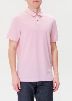 Однотонное поло Bogner розового цвета, фото