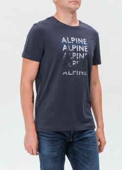 Синяя футболка Bogner с надписями, фото