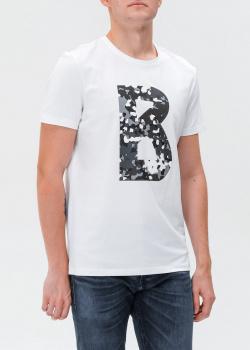 Белая футболка Bogner с фирменным принтом, фото