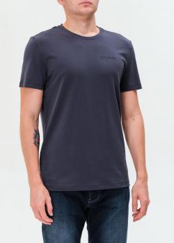 Хлопковая футболка Bogner в синем цвете, фото