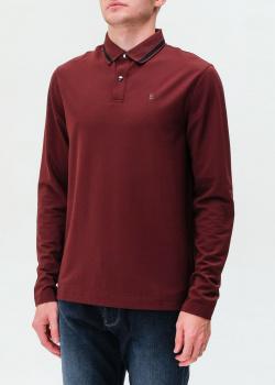 Бордовое поло Bogner с длинным рукавом, фото