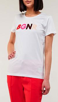 Белая футболка Bogner с принтом, фото