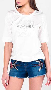 Футболка Bogner с брендовым принтом, фото