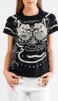 Черная футболка Givenchy с принтом, фото