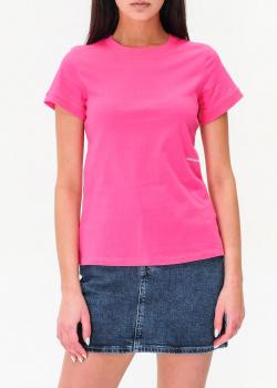 Хлопковая футболка Calvin Klein цвета фуксии, фото