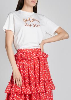 Белая футболка Alexa Chung с принтом, фото