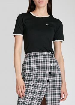 Черная футболка Alexa Chung с кремовым кантом, фото